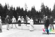 1892 Na tenisovom kurte v D olnom Smokovci zľava Forgáč, Ambrózy, Oberdorff, Erdody a gróf Viliam Migazzi