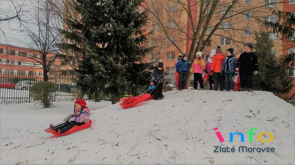 Čaro zimy vMŠ na Kalinčiakovej ulici.