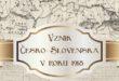 Vznik Česko-Slovenska v roku 1918