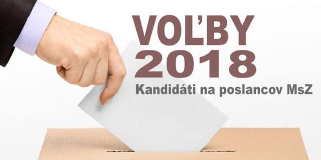 Kandidáti na poslancov MsZ Zlaté Moravce 2018