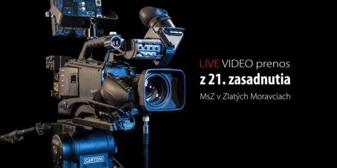 🔴 VIDEO prenos z 21. zasadnutia Mestského zastupiteľstva